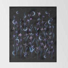Greeting to the Moon - Matthiola Throw Blanket