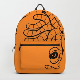 Tentacle One Eye Grouch Monster in Orange Backpack