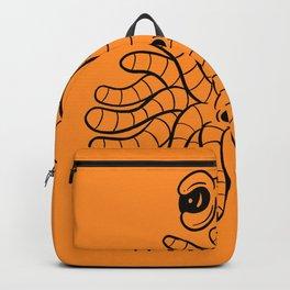 Tentacle One Eye Grouch Monster in Orange Backpack