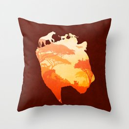 The Heart of a Lioness Throw Pillow