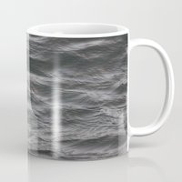 salt water Mugs featuring Water by chlofrey