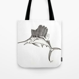 Surfing the fish Tote Bag