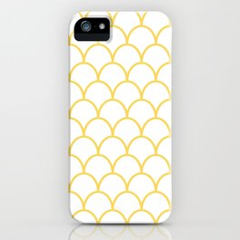 Yellow Scallops iPhone Case