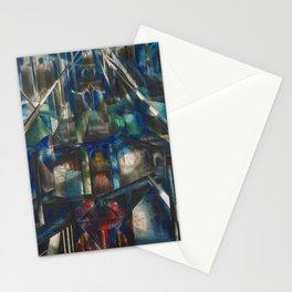 Classical Masterpiece 1920 Brooklyn Bridge by Joseph Stella Stationery Cards