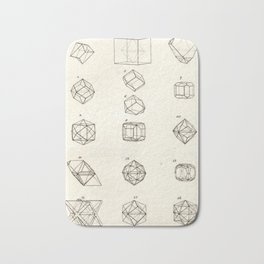 Geometric Crystals Diagram Bath Mat
