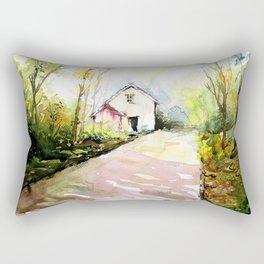Beautiful Cottage Garden Painting Rectangular Pillow