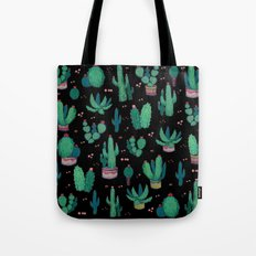 Cactus and Flowers collab. Tote Bag