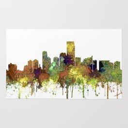 Jersey City Skyline - Safari Buff Rug
