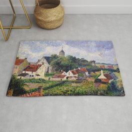 Camille Pissarro - The Village Of Knokke - Digital Remastered Edition Rug