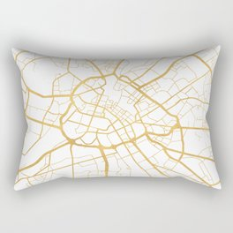 MANCHESTER ENGLAND CITY STREET MAP ART Rectangular Pillow