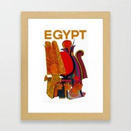Vintage Egypt Headdress Travel Framed Art Print