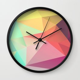 geometric V Wall Clock