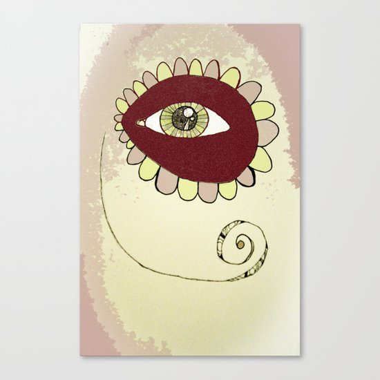 See No Evil - Pink Canvas Print