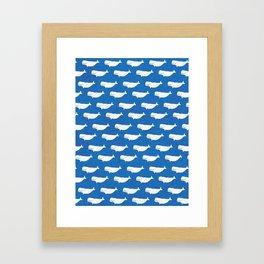 blue belugas Framed Art Print