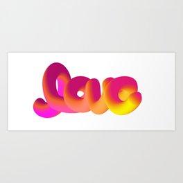 Bouncy love Art Print