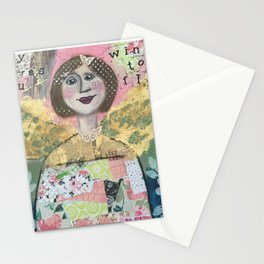 joy gives you wings to fly xo Stationery Cards