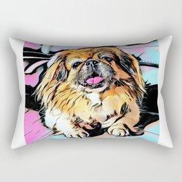 Pekingese Cartoonized Rectangular Pillow