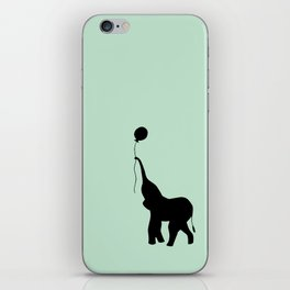 Elephant with Balloon - Mint iPhone Skin