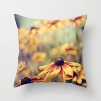 sunshine Throw Pillows featuring sunshine by shannonblue