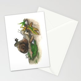 Little Worlds: Snail and Cricket Stationery Cards