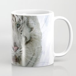 Digital Painting of White Tiger Coffee Mug