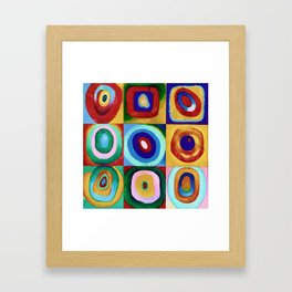 Colorful circles tile Framed Art Print