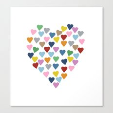Hearts Heart Canvas Print