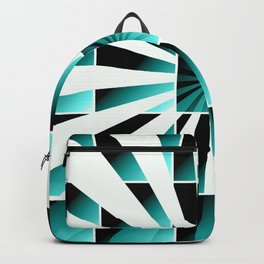 Abstract geometric turquoise Backpack
