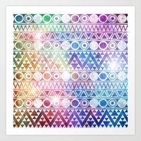 Tribal Stardust  Art Print