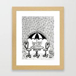 Sad Kitty Framed Art Print