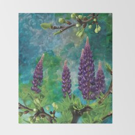 For The Love Of Lupines by annmariescreations Throw Blanket