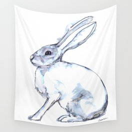 Hare on alert Wall Tapestry