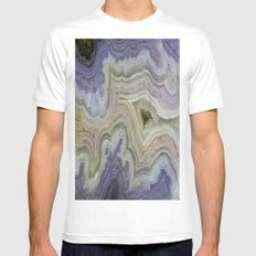 Royal Aztec Lace Agate White MEDIUM Mens Fitted Tee
