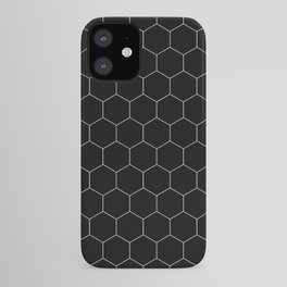 Simple Honeycomb Pattern - Black & White -Mix & Match with Simplicity of Life iPhone Case