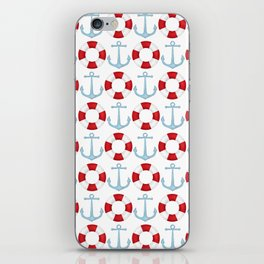 Anchors And Buoys Pattern iPhone Skin