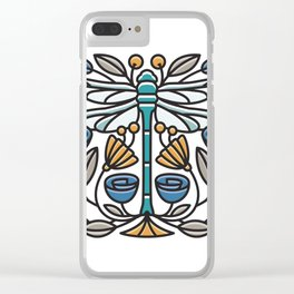 Dragonfly tile Clear iPhone Case