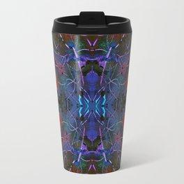Psychedelic Blacklight Patchwork Travel Mug