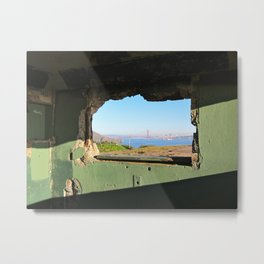 City Through A Window Metal Print