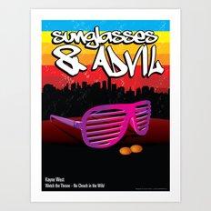 Sunglasses and Advil Art Print