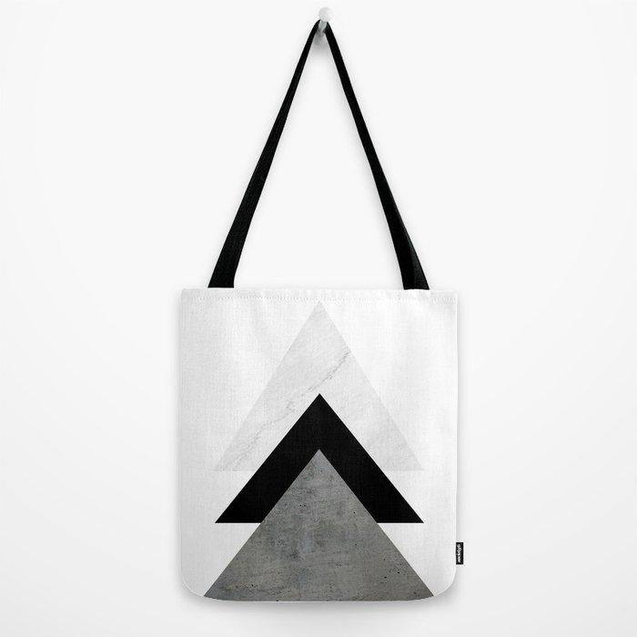 Arrows Monochrome Collage Tote Bag