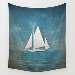 The Paper Ship Wall Tapestry