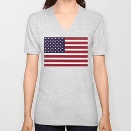 American flag with painterly treatment Unisex V-Neck
