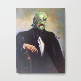 Portrait of Monsieur Gills Metal Print