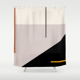 abstract minimal 28 Shower Curtain