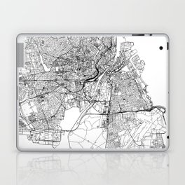 Copenhagen White Map Laptop & iPad Skin