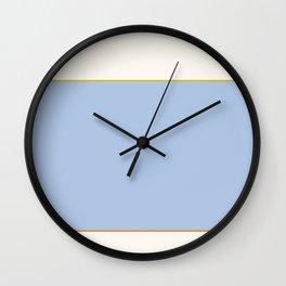 Poolside Color Block Wall Clock