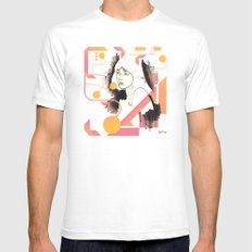 Noir Series 001. Mens Fitted Tee White SMALL