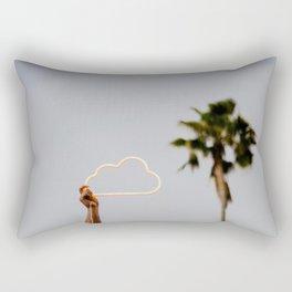 The neon cloud Rectangular Pillow