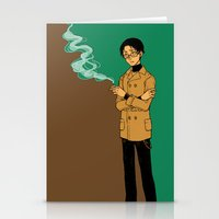 smoking Stationery Cards featuring smoking by Rairatoakane