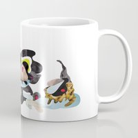 rhino Mugs featuring Rhino by Maria Taari